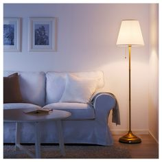 IKEA ÅRSTID floor lamp The textile shade provides a diffused and decorative light.