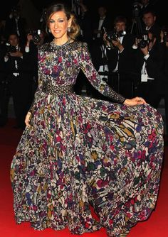 Cannes demands a show-stopping gown and Sarah certainly came through back in May 2011 when she wore this floral Elie Saab stunner at the annual festival.