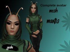 6004423ab24b2 Second Life Marketplace - Complete Avatar Mantis mesh. yap · costume shit