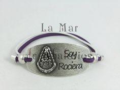 Monta tu chapa Rociera con los colores de tu Hermandad, no te quedes sin ella todo lo tenemos en Lamardeabalorios.com