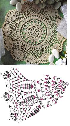 Crochet World added a new photo — with Marcia Aparecida Custódia de Lima and 3 others. Crochet Dollies, Crochet Doily Patterns, Crochet Mandala, Crochet Motif, Hand Crochet, Free Crochet, Knitting Patterns, Knit Crochet, Crochet Needles