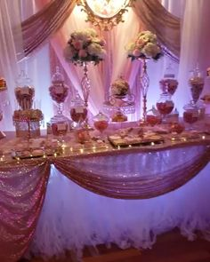 Gorgeous Sweet 16 Dessert Table & Donut Wall creates the most amazing events and parties with our Opulent Treasures cake and dessert stands! SHOP our stands at the link! Related posts:Quinceanera Ideas with. Sweet 16 Party Decorations, Quince Decorations, Wedding Decorations, Quince Themes, 18th Birthday Party Ideas Decoration, 18th Birthday Party Ideas For Girls, Quince Centerpieces, Hotel Birthday Parties, Rose Gold Centerpiece