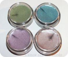 New! (March 2013) Mary Kay Cream Eye Colours- Meadow Grass, Coastal Blue, Violet Storm, and Metallic Taupe --- These look lovely!  I am ordering the Meadow Grass to try on myself...
