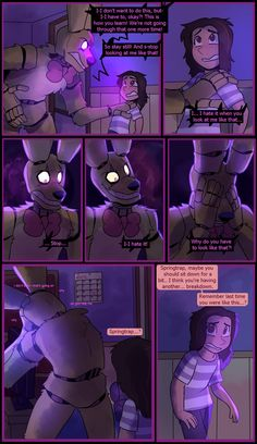 Springtrap and Deliah (Page 39) by GraWolfQuinn