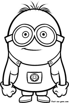 Printable Despicable Me Minions Printable Coloring Pages- my kids have never seen this but think these guys are hilarious !
