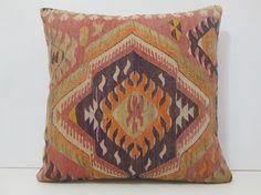 24x24 patio pillows DECOLIC kilim tappeti stuhlkissen orange decorative kelim needlepoint pillows discount pillows 13979 kilim pillow 60x60