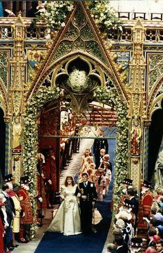 .Prince Andrew Duke of York and his bride Sarah Ferguson.