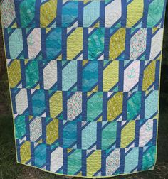 Mermaid and Jellyfish Quilt Top and Binding - Quilt Kit