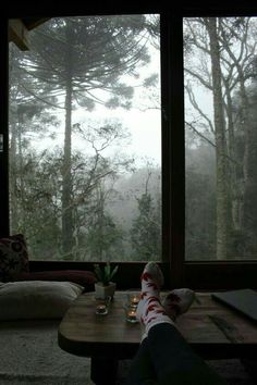 Forest House, Forest Room, Window View, Cabins In The Woods, House Goals, Dream Rooms, Rainy Days, Cozy Rainy Day, Rainy Weather