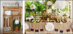 decoração aniversario infantil com caixas de frutas - Pesquisa Google