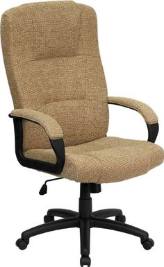 Flash Furniture BT-9022-BGE-GG High Back Beige Fabric Executive Office Chair - http://yapiver.com/chair/flash-furniture-bt-9022-bge-gg-high-back-beige-fabric-executive-office-chair-2/