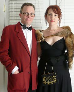 My date and I, en route to the Memphis roller derby fundraiser. Yes, that'a a real fox stole.     How to find cougars who know what they want and can teach you a thing or two are looking for you   here. Learn more on cougarsplace.com
