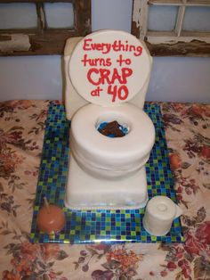 "Over the Hill Cake Ideas for Men | Toilet cakes are great for ""over the hill"", plumbers, potty training ..."