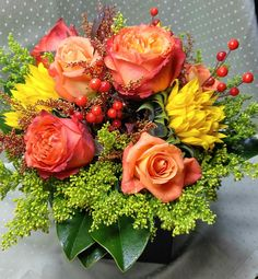 Our Fabulous Fall Arrangement!  @fleurfloraldesigns