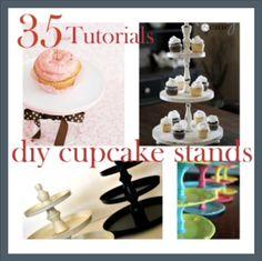 'DIY Cupcake Stands...!' (via makecreatedo.com)