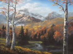landscape oil painting with Kevin Hill. Learn techniques that can improve oil, acrylic and even watercolor paintings. Oil Painting For Beginners, Oil Painting Techniques, Painting Videos, Painting Lessons, Art Techniques, Kevin Hill Paintings, Bob Ross Paintings, Autumn Painting, Oil Painting Abstract