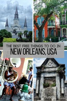 10 free things to do in New Orleans   Cheap things to do in New Orleans   Deep South USA travel guide   New Orleans city guide   USA vacation ideas   New Orleans on a budget #neworleans #budgettravel- Tanks that Get Around is an online store offering a selection of funny travel clothes for world explorers. Check out www.tanksthatgetaround.com for funny travel tank tops and more budget travel tips