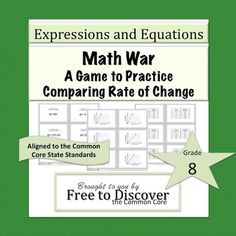 Math War: A Game to Practice Comparing Rate of Change