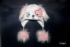 Detské čiapky - ❄️ snehobiely psík s trblietkami ❄️ - 4882068_