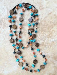 A personal favorite from my Etsy shop https://www.etsy.com/listing/260381529/boho-necklace-stone-necklace-orange
