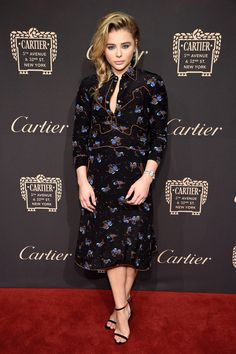 Chloë Moretz in Coach 1941 at the  Cartier Fifth Avenue Grand Reopening Event