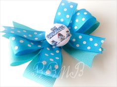 CLEARANCE SALE Smurfs Hair Bow  by RufflesRibbonsNBows on Etsy, $2.50