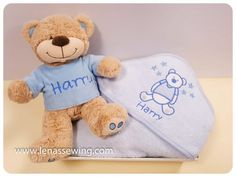 Baby's Hamper- Teddy Tshirt & Hooded Towel with name New Baby Presents, Baby Hamper, Rag Dolls, New Baby Products, Hoods, Ireland, Towel, Teddy Bear, Embroidery