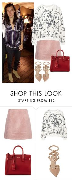 """Valentine's Day with Harry"" by valentinacard ❤ liked on Polyvore featuring Acne Studios, Yves Saint Laurent, Valentino and harrystyles"