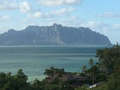 View from a neighbors vantage point. I love living in Kaneohe!