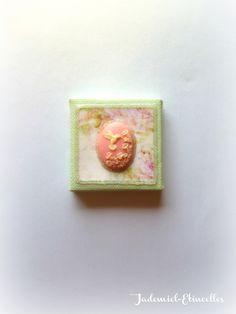 """Mini toile décorative série """" Songes de fleurs """" n°75 : Accessoires de maison par jademiel-etincelles"""