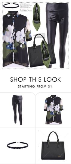 """""""Green and black"""" by duma-duma ❤ liked on Polyvore featuring Casadei"""