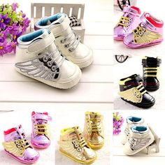NEW-Anti-slip-Infant-Toddler-Baby-Boy-Girl-Soft-Sole-Crib-Wing-Shoes-Sneaker-BK