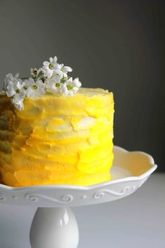Lemon Ombre Cake | Oh Sweet Day!