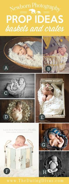 Adorable Newborn Photography Prop Ideas using Baskets