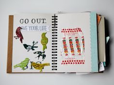 art journaling: a 4 year old's adventure