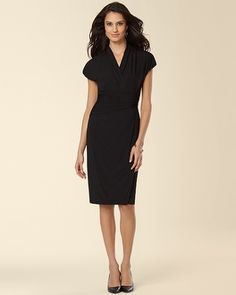 Soma Intimates Ivy and Blu Shirred Surplice Black Dress My Soma Wish List  Sweeps e5672fec2