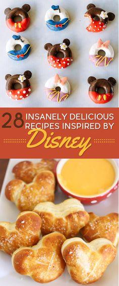 DIY 28 Insanely Delicious Recipes Inspired By Disney #diy #recipe #disney