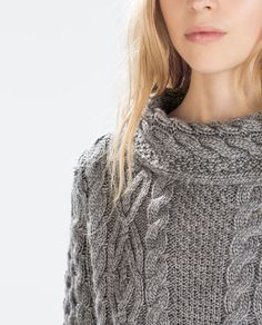 Image 5 of COWL NECK SWEATER from Zara