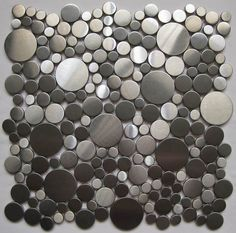 Kitchen backsplash....love this too.  It would offset all my stainless steel appliances.