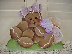HP~~Gingerbread Girl and EASTER Eggs ~~ SHELF Sitter