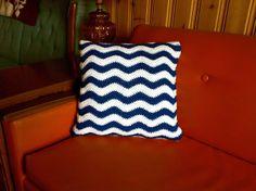 The Way I Crochet: Crochet Ripple Cushion Cover - Free Pattern