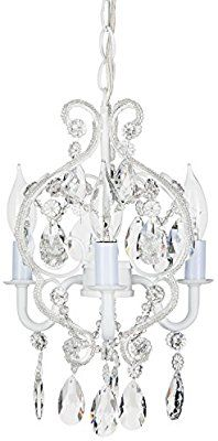 Tiffany Collection Mini Crystal Swag Chandelier Lighting With 3