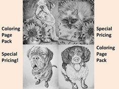 Who WOULDN'T want to color in all these cute animals? Hand drawn in classic grayscale, this coloring page is the perfect way to relax, stay creative and even hone your artistic skill! See more printable coloring pages @ ArtistryByLisaMarie.Etsy.com