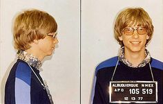 Celebrity crimes : Bill Gates – ARRESTED for Driving without a license
