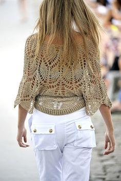 Crochetemoda: Blusa de Crochet Ponto Abacaxí