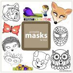 Printable Masks for Kids by helena Drama Activities, Activities For Kids, Theme Carnaval, Diy Paper Christmas Tree, Printable Masks, Free Printables, Turtle Crafts, Kids Calendar, Carnival Of The Animals
