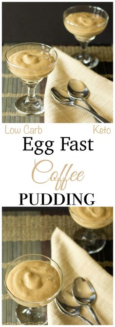 Looking for a dessert that won't break your low carb keto diet? This coffee egg fast custard pudding is low carb high fat to keep you in a state of ketosis.