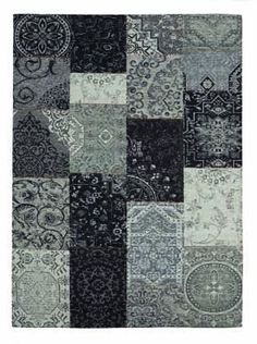 d co int rieur bleu et gris tapis patchwork saint maclou. Black Bedroom Furniture Sets. Home Design Ideas