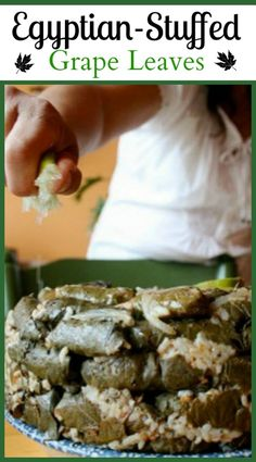 These Egyptian Stuffed Grape Leaves are so delicious and so easy to make. Middle East Food, Middle Eastern Recipes, Lebanese Recipes, Greek Recipes, Egyptian Food, Egyptian Recipes, Arabic Recipes, Arabic Food, Arabic Dessert