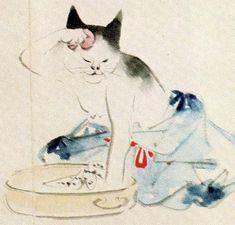 「浮世絵ねこがおもしろい」記事の画像